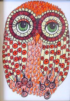 'Sweet Little 70's Owl' by Lynnette April Cooper