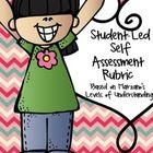 Student-led Assessment Tool - based on Marzano's Levels of Learning using a 4-Point Rubric.  It can be used in a variety of ways: $