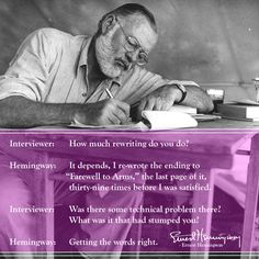Ernest Hemingway again...
