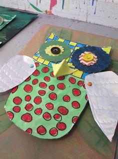 3D Mixed Media Owl  |  www.smallhandsbigart.com/blog