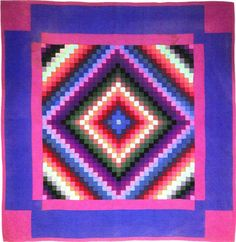 Amish quilt, Sunshine and Shadow-Lancaster County PA c.1930