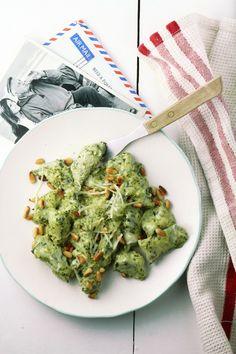 Spinach and pesto gnocchi