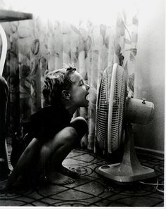 talking into the fan