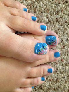 Cute toenail design