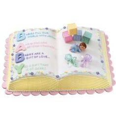 How to decorate a Letter-Perfect Baby Cake.