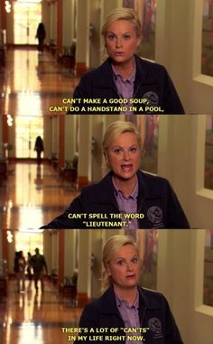 """Leslie's """"cant's"""""""
