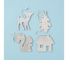 Kids' Holiday Decor: Wooden Ornaments