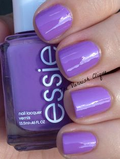 Pretty nails. It might sound silly, but when my nails look nice, I feel put together. I have more purple nail polish than any other color. Essie-Play Date
