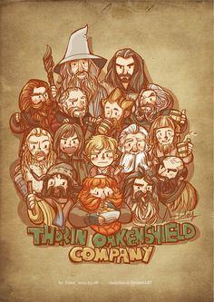 The Hobbit - Gandalf, Thorin, Gloin, Dori, Nori, Oin, Fili, Kili, Bilbo, Balin, Ori, Bofur, Bombur, Bifur and Dwalin (by Haley)