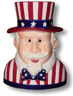 I own this cookie jar . . . always very festive to display during the month of July . . .