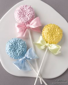 Pastel Baby Colors Floral Cake Pops