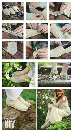 TOMS Lined With Lace #DIY on Buzzfeed. Shop your supplies to get started: http://toms.sh/1n8Q81R