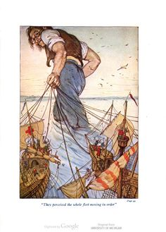 They perceived the whole fleet moving in order - Gulliver's travels by Jonathan Swift, 1912