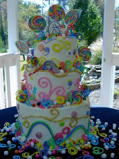 Stars and swirly cake