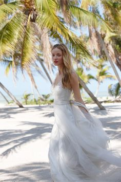 Onyx Gown at BHLDN The skirt part and the tropical place