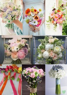 Spring Wedding Bouquets Mood Board from The Wedding Community