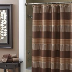 Angola Shower Curtain - Chocolate $39.99	 #CroscillSocial