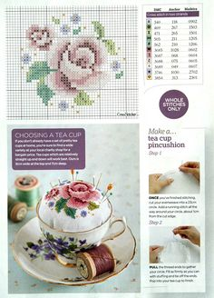 This is so pretty.  Will look for a pretty tea cup.  Would make a great gift idea.