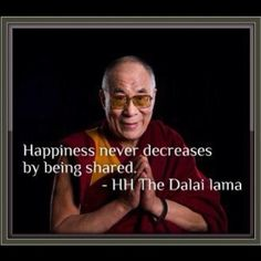 Dalai Lama about Happiness.