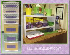 This post has some easy to use organizational ideas for back to school.