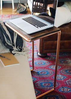diy: copper laptop table