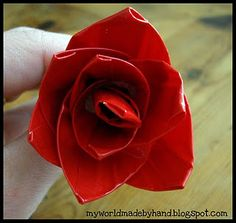 duct tape rose so cool I'm guna do this