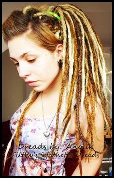 <3 Dread by Anouk Dreadmaker i install by Filthy's Synthetic Dreads <3