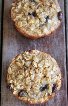 3. Banana and Chocolate Chip Baked Oatmeal Cups