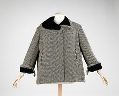 Coat; Charles James, ca. 1955, wool, synthetic
