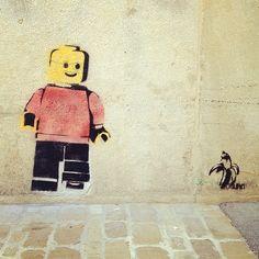 LEGO street art #banksy #lego