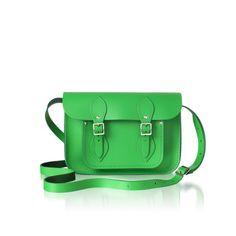 Classic Green cambridge satchel