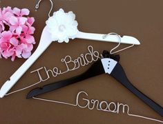 Passion And Love Bride and Groom Wedding Hanger Set