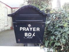 Prayer box Mylor Bridge.Nice idea for a community prayer box.