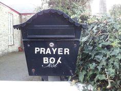 Prayer box Mylor Bridge.Nice idea for a community prayer box.