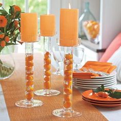 Clearly Creative Jar and Pillar Holder centerpiece. Fill the hollow glass stem with colored water, sand, silk flower buds, anything! by PartyLite Candles Get your partylite collection for free ...Ask me how at michellemybell4@hotmail.com  Independent Partylite Consultant