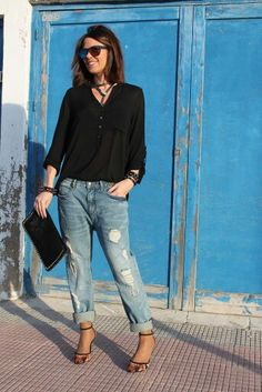 Blusa negra outfit