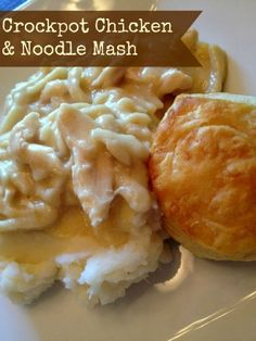 Crockpot Chicken & Noodle Mash - this looks like a true comfort food dish. great for a chilly evening