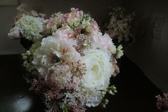 Custom Pink Blush Brooch Bouquet by KAArtisticEvents on Etsy, $275.00