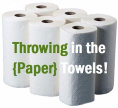 Throwing In The {Paper} Towels! | One Good Thing by Jillee