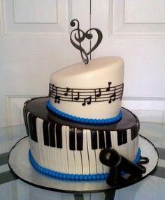 blue piano cake, piano birthday cake, music cakes, cake music, cakes music