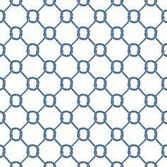 Jonathan Adler Wallpaper Ropes Navy