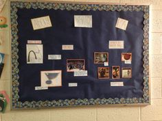 About me board for the first week.