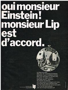 Publicite Adverstising 1968 LIP Montres