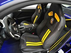 Interior of Blue Angels Mustang GT.