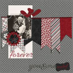 Great idea for wedding pages! Check out Hoppin' Threads Wedding albums, anything can be customized =)