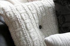 DIY sweater pillows.