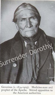 Geronimo Native People Photogravure by SurrendrDorothy, via Flickr