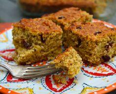 #Vegan Lemon Cranberry Corn Bread #recipe via @ourpassion4food #Thanksgiving