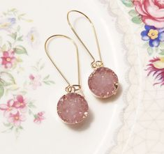 Druzy bridesmaid ear