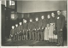 A family of seven sons and one daughter, Ellis Island (1904-1926).